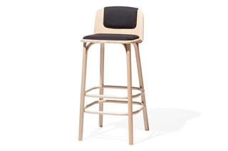 Split bar stool upholstered  by  TON