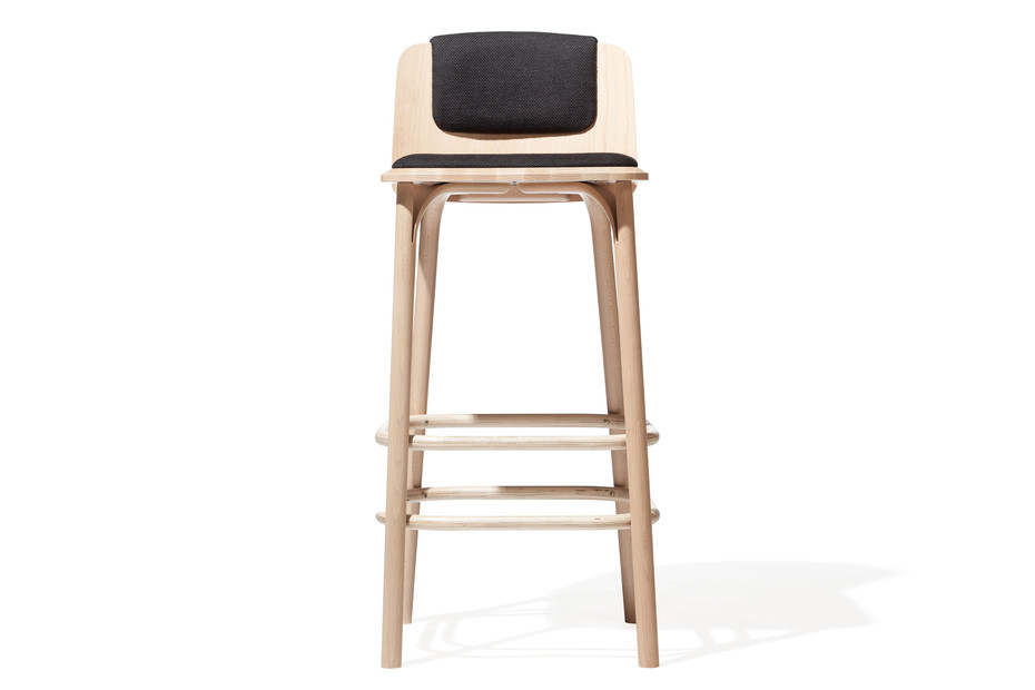 Split bar stool upholstered