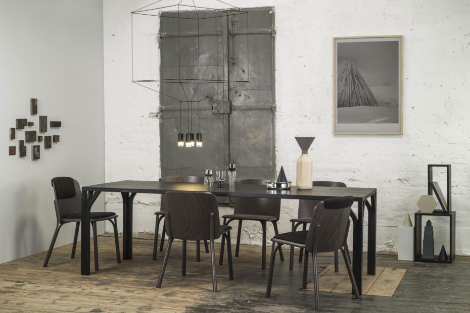 Split Stuhl gepolstert