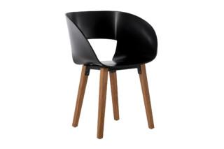 Vintage Stuhl mit Holzbeinen  von  Tribù