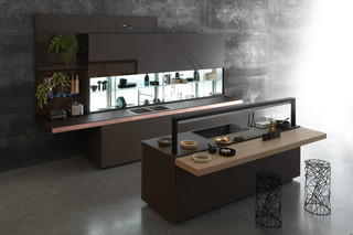 Genius Loci with copper drawer  by  Valcucine