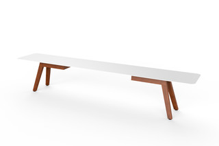 Slim Wood Bench  von  VITEO