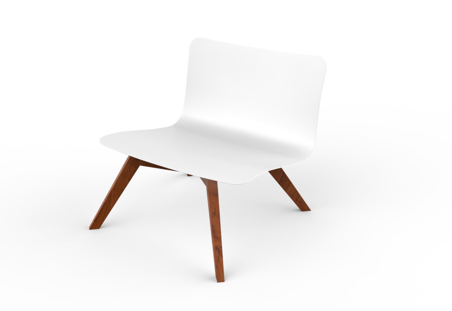 Slim Wood Lounge Chair