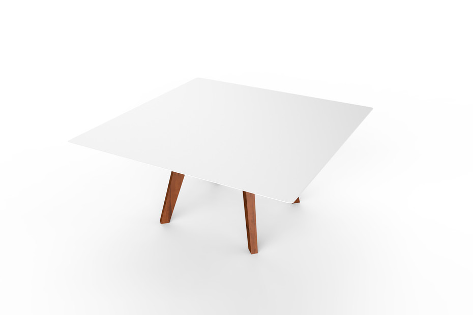 Slim Wood Lounge Table Square