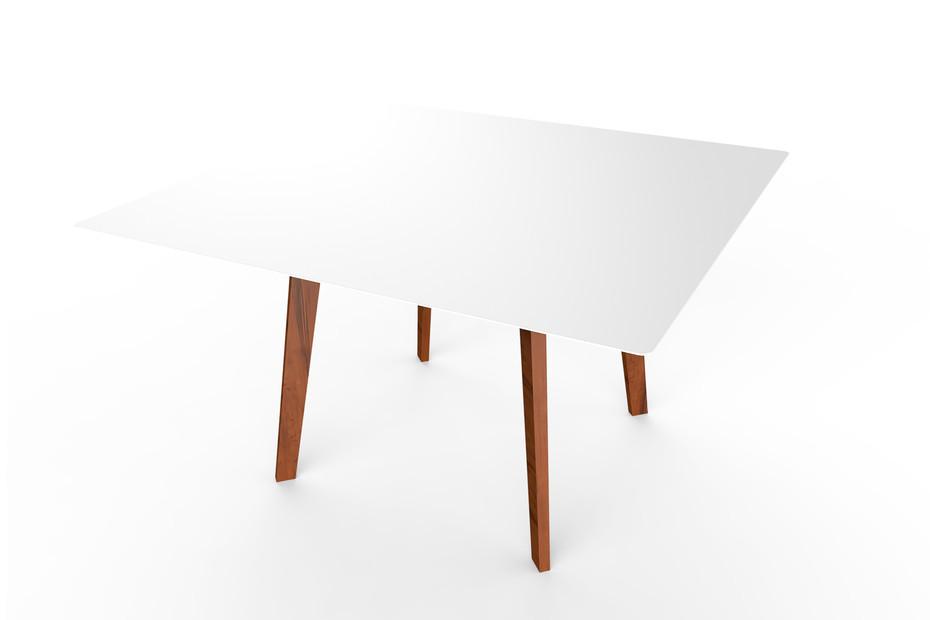Slim Wood Table Square