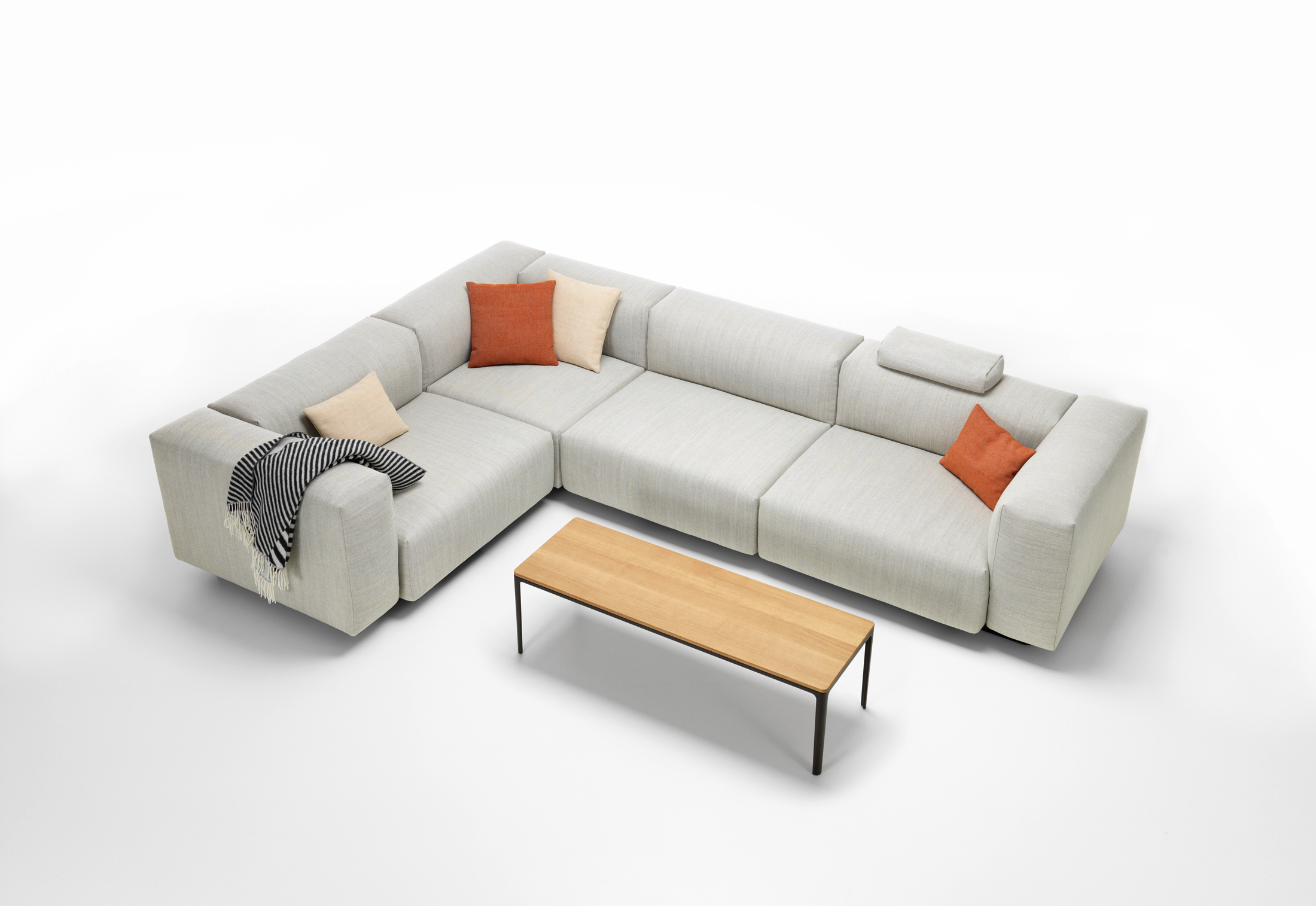 Soft modular sofa by vitra stylepark for Sofa modular exterior