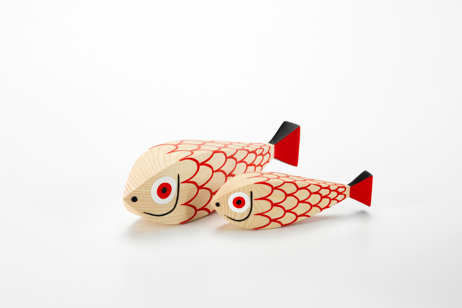 Wooden Dolls Mother Fish and Child