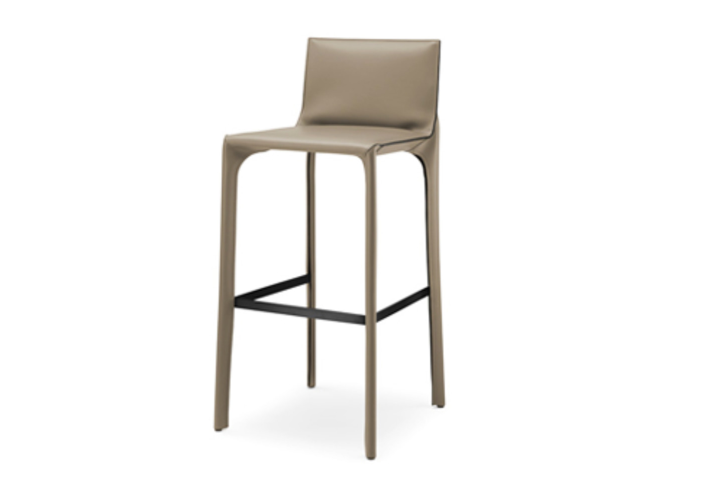 Saddle chair bar stool with backrest by walter knoll for Stool chair