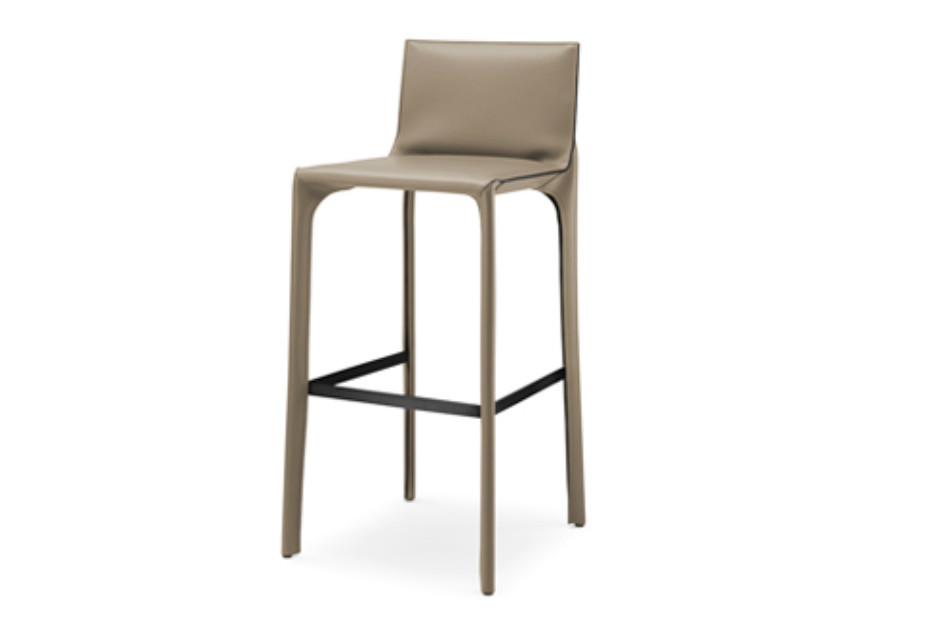 Saddle Chair bar stool with backrest