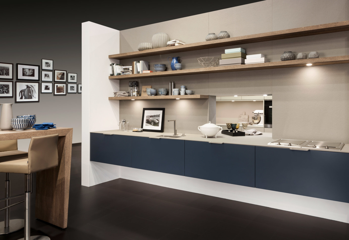 Livingkitchen internationales urbanes k chendesign von warendorf stylepark Kitchen design centre stanway