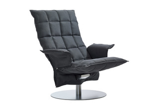 SWIVEL K CHAIR with armrests  by  Woodnotes