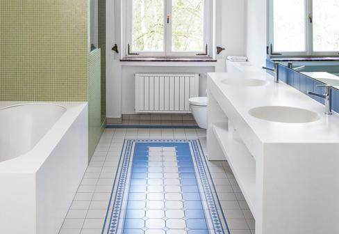 ... DuPont™ Corian® Pfeiffer Art Nouveau Bathroom ...