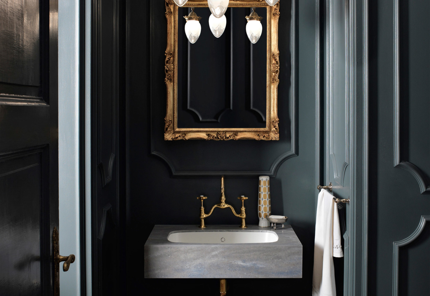 french style Luxurious bathroom interior in French style new tradition 1