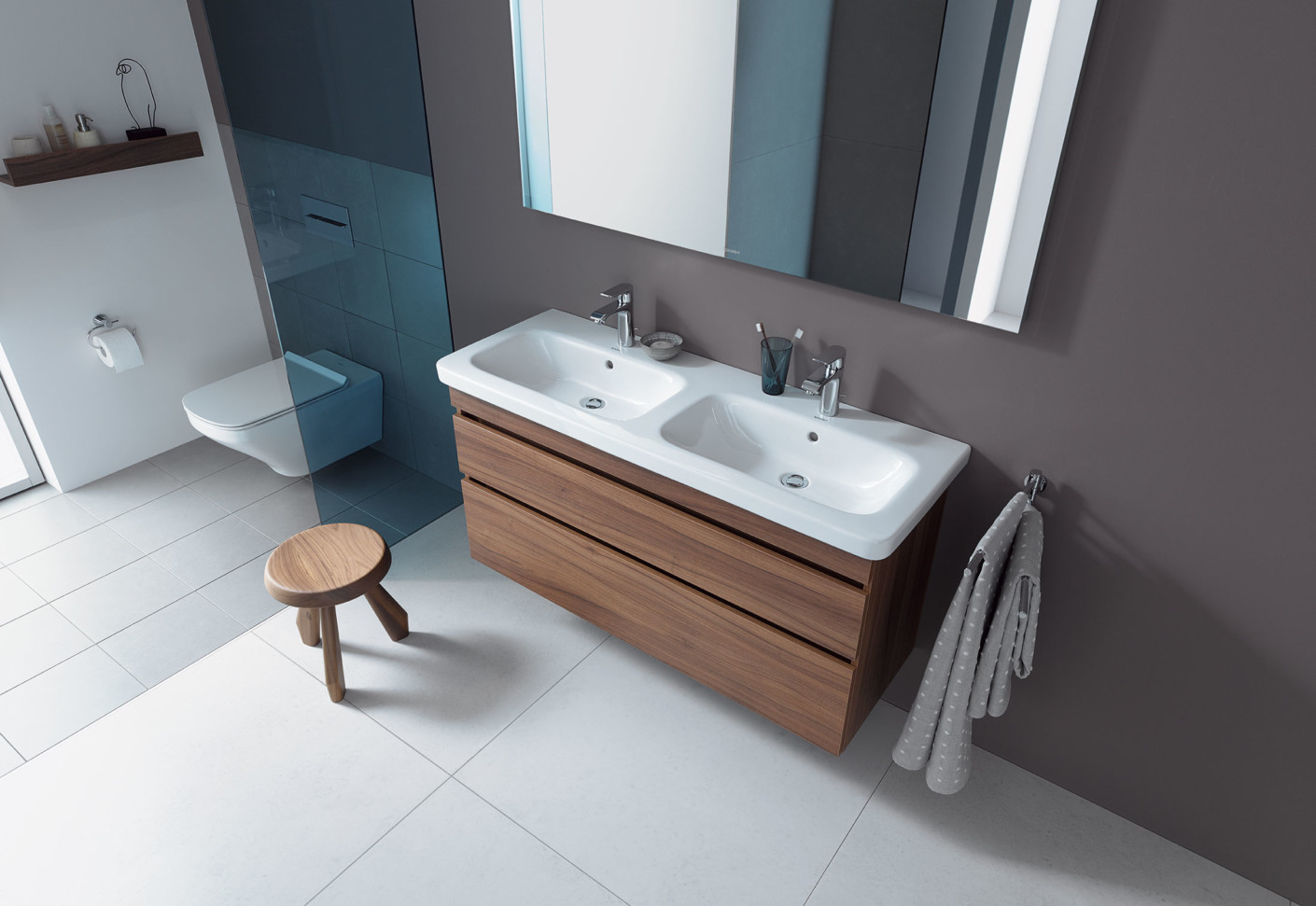 Durastyle double washbasin vanity unit by Duravit | STYLEPARK