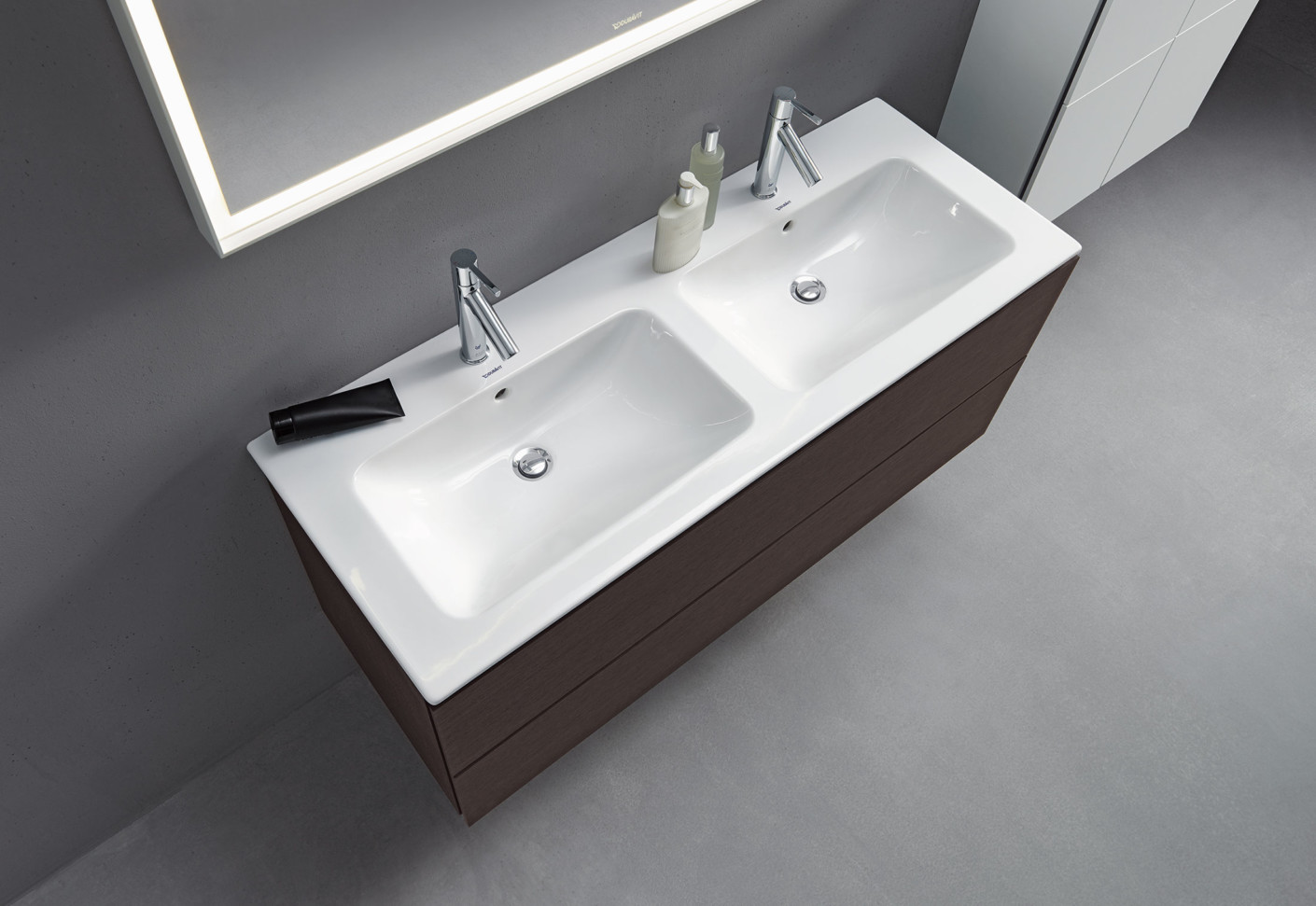 me by starck double washbasin by duravit stylepark. Black Bedroom Furniture Sets. Home Design Ideas