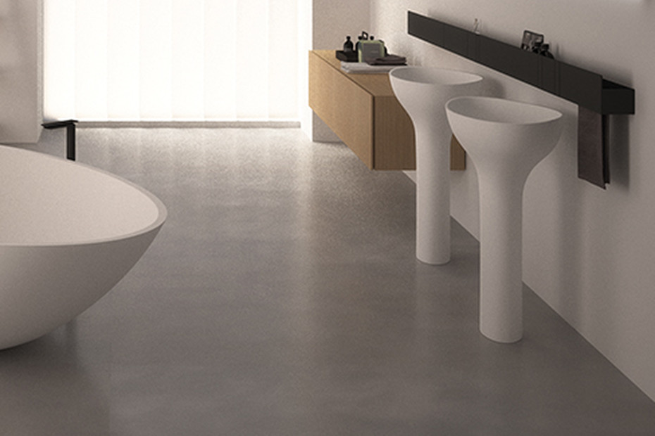 Drop freestanding washbasin