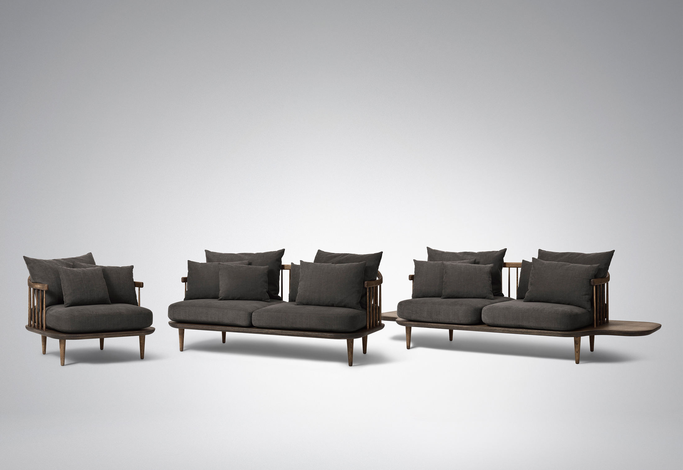 Fly sofa with side tables by andTradition