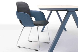 Flux chair with skids  by  Arco