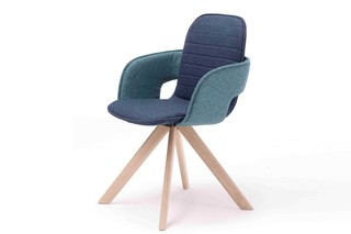 Flux chair with wooden legs  by  Arco