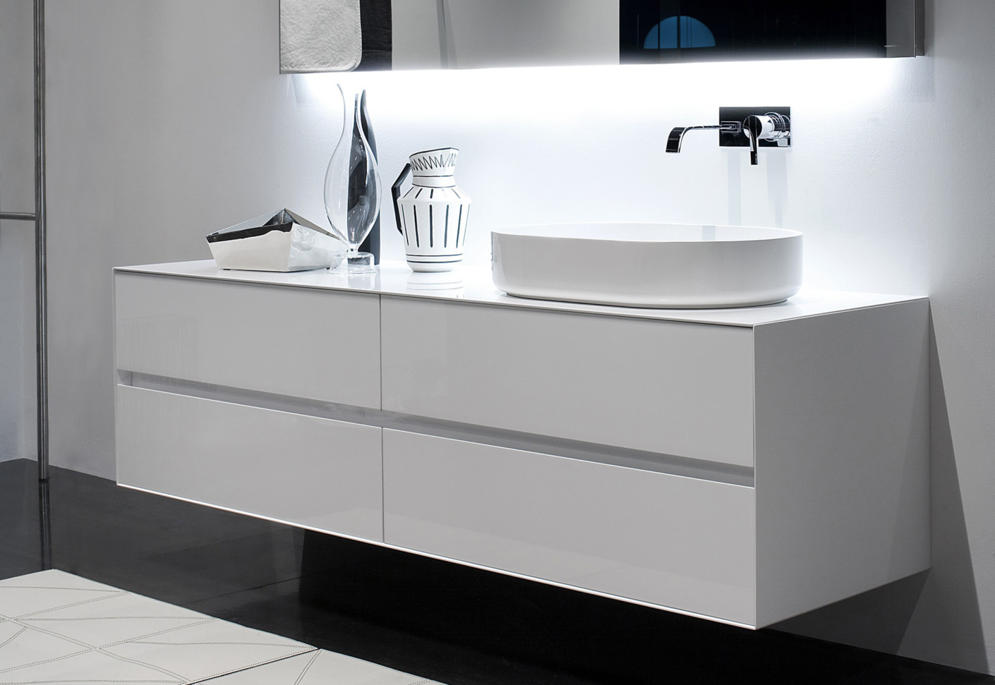 panta rei vanity unit by antonio lupi