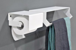 Qgini paper roll holder with cover  by  Antonio Lupi