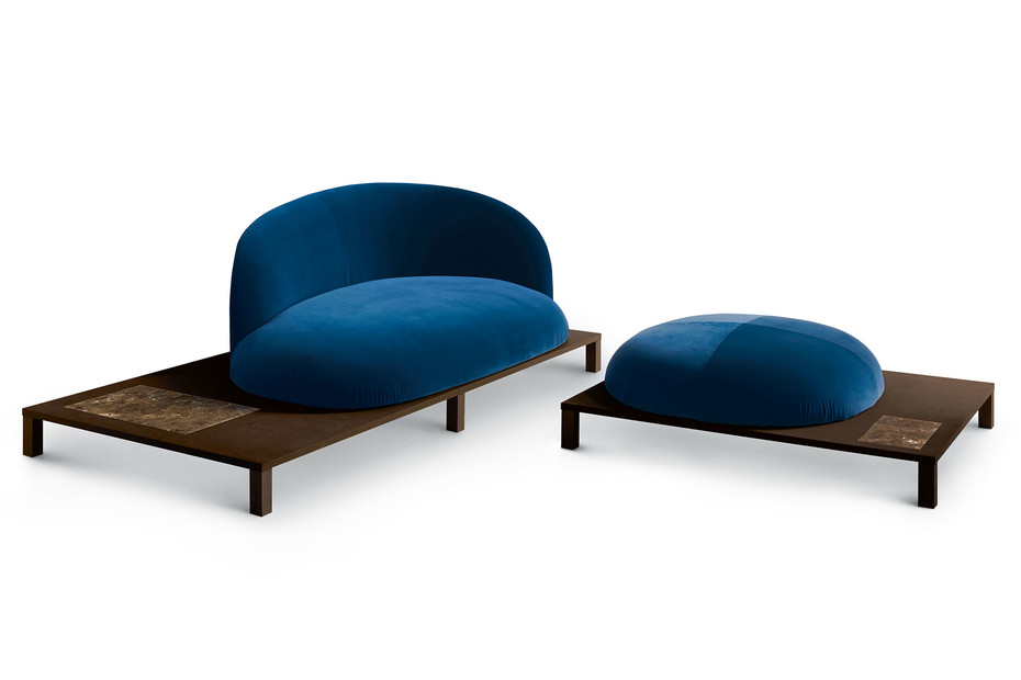 Bonsai Sofa mit Holzgestell