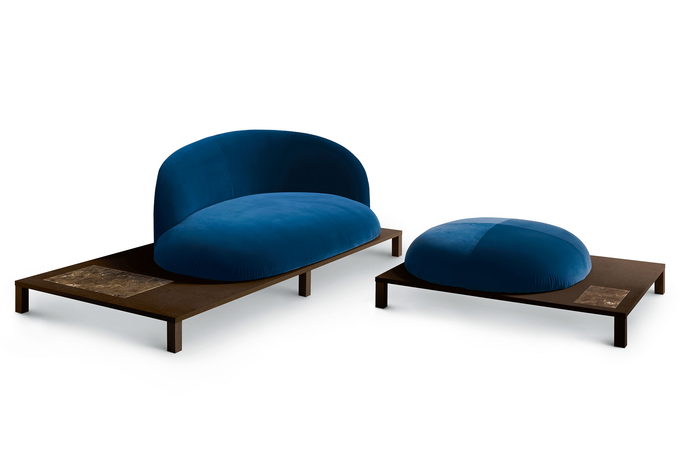 bonsai sofa mit holzgestell von arflex stylepark. Black Bedroom Furniture Sets. Home Design Ideas