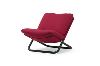 Cross armchair with low backrest  by  arflex