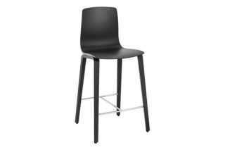 Aava - Counter Stool 4 Wood Legs   by  Arper