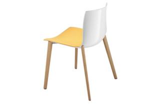 Catifa 46 - 4 wood legs   by  Arper