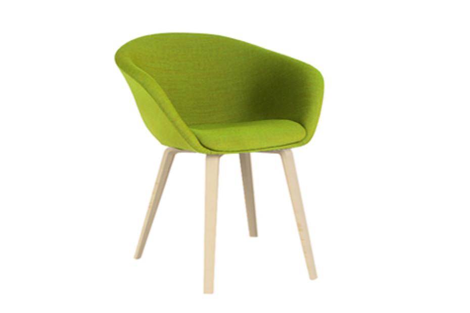 Incredible Duna 02 4 Wood Legs By Arper Stylepark Machost Co Dining Chair Design Ideas Machostcouk