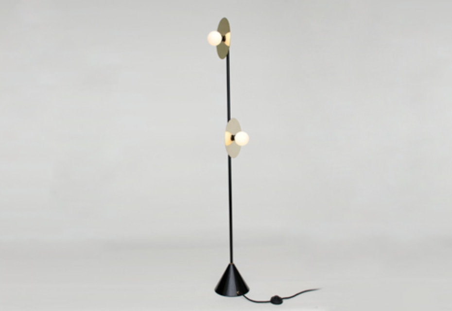 -Disc and Sphere floor lamp