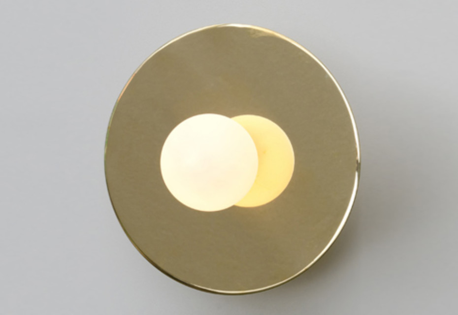 Disc and Sphere wall lamp