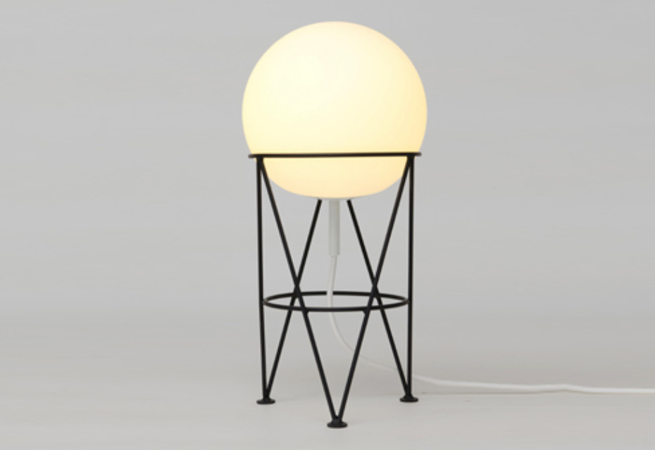 Structure and Globe desk lamp