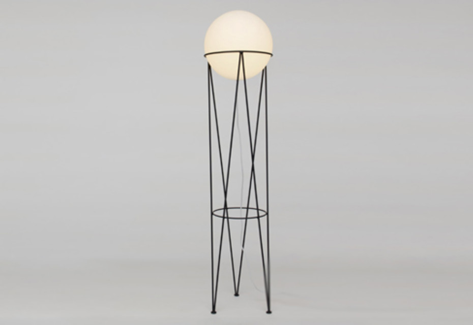 -Structure and Globe floor lamp