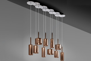 Spillray suspension 10 bronze  by  Axolight