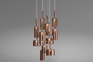 Spillray suspension 12 bronze  by  Axolight