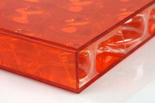 clear-PEP® UV PC color orange with banding  by  Design Composite