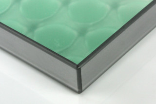 clear-PEP® UV PC satin green with silver banding  by  Design Composite