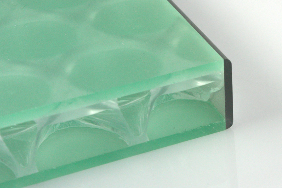 clear-PEP® UV PC satin green with silver banding