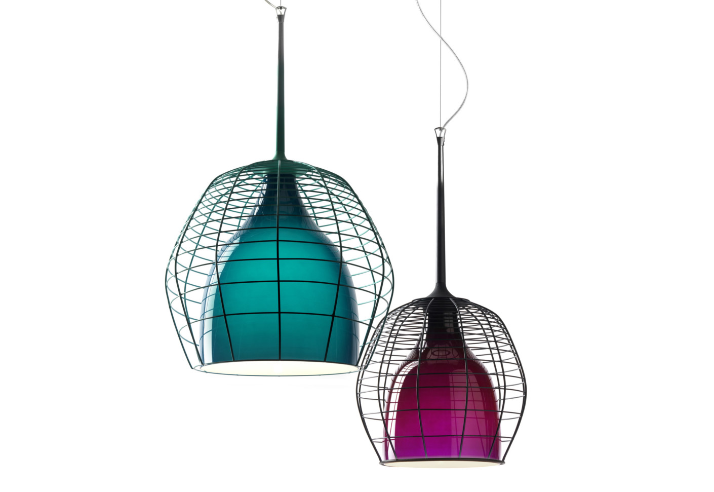 Cage suspension lamp big by diesel successful living for Suspension 4 lampes