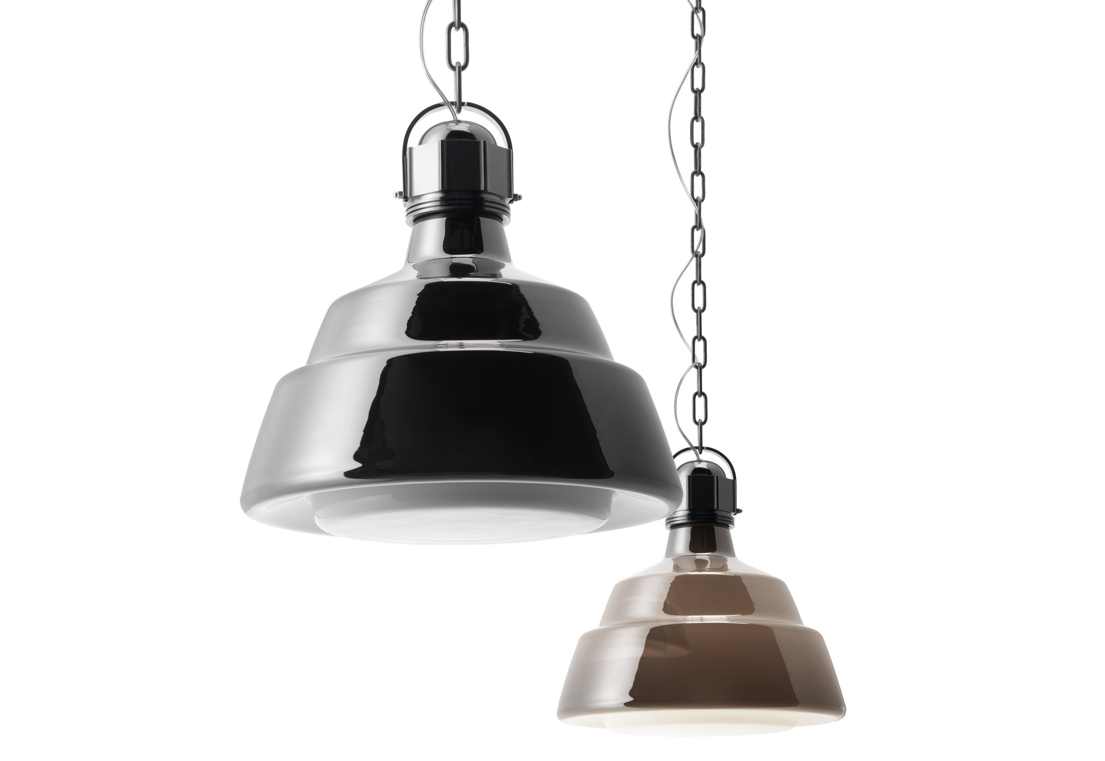 Glas suspension lamp big by diesel successful living for Suspension 4 lampes