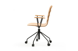 Smusso swivel chair with arms  by  Discipline