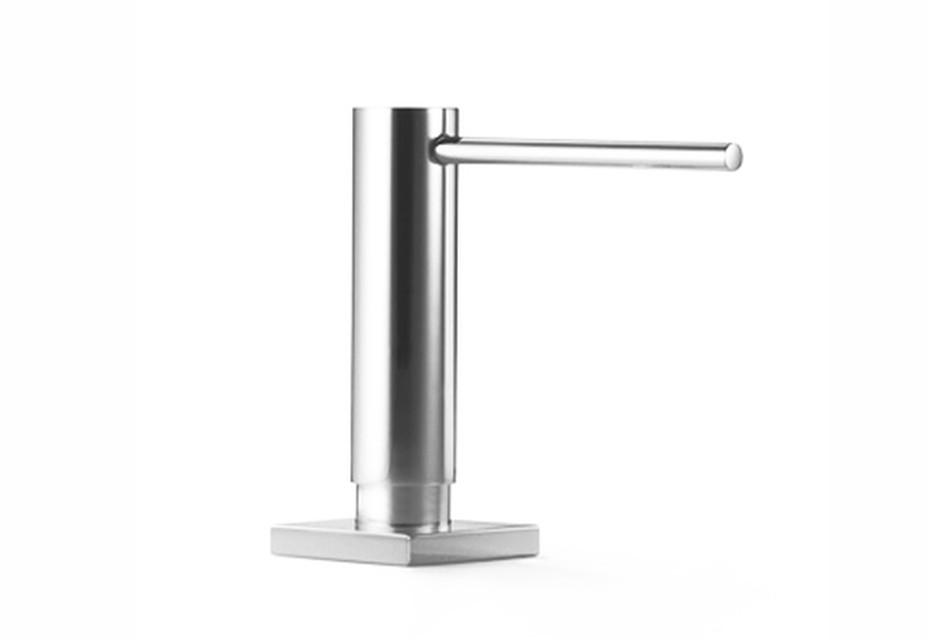 Accessoires Integrated washing-up liquid dispenser with rosette round with square base plate