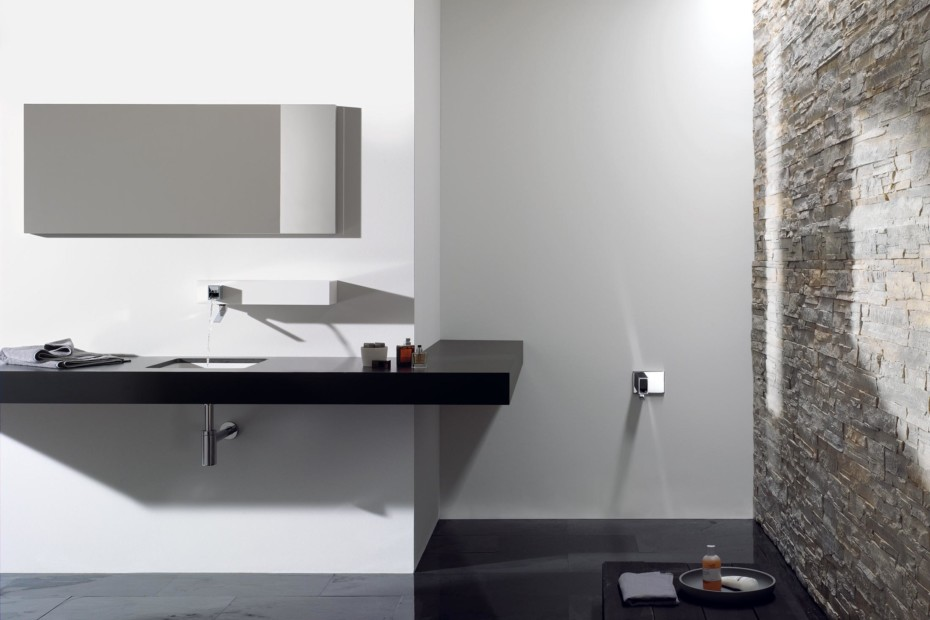 Elemental Spa IAM Wall-mounted single-lever basin mixer with housing
