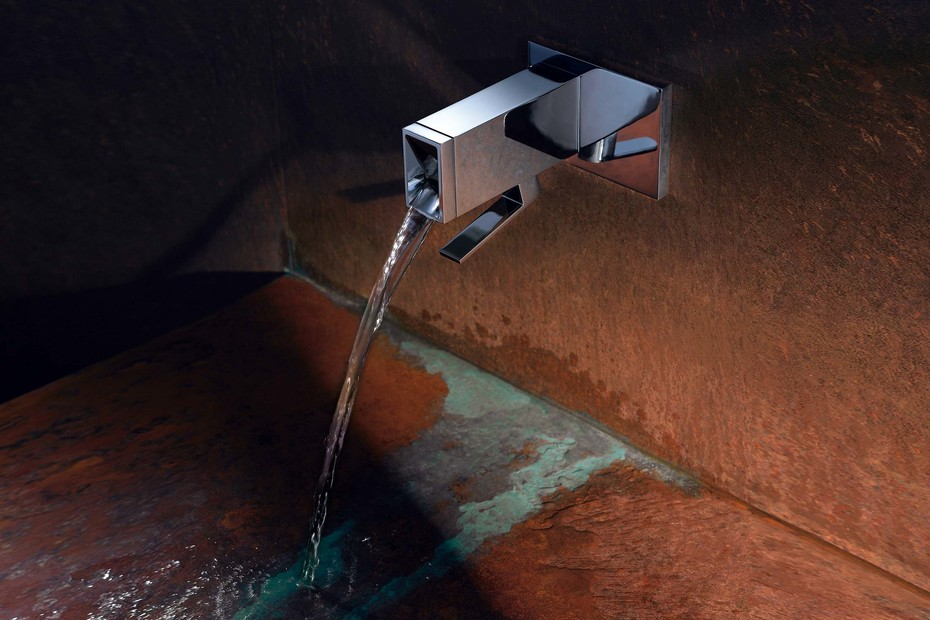 Elemental Spa ITA wall-mounted single-lever basin mixer