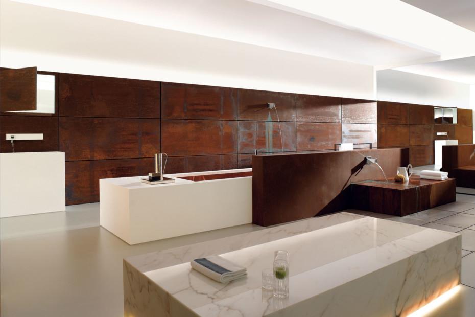 Elemental Spa KATA Wall-mounted single-lever bath mixer with shower set