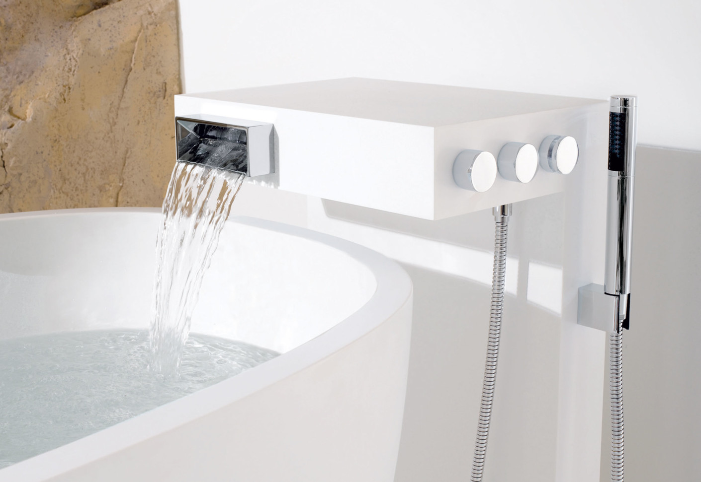 Elemental Spa NOTA Single-lever bath mixer for free-standing ...