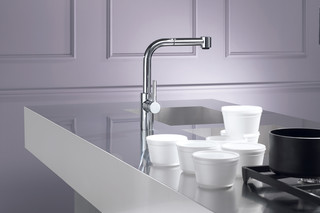 Elio Single-lever mixer with extensible spray  by  Dornbracht