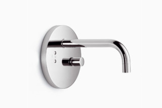 eMote Wall-mounted infrared basin mixer with mixing button long  by  Dornbracht